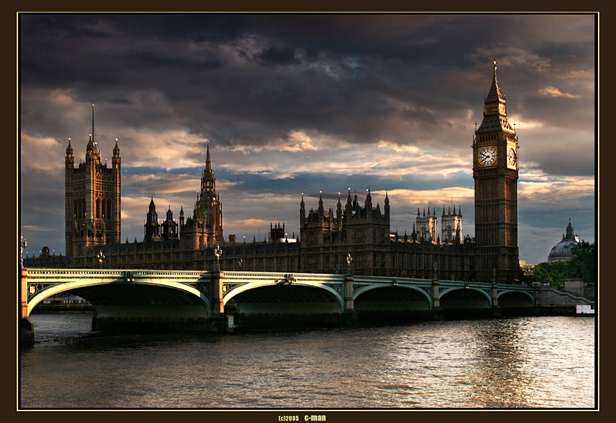 london | bridge, England, London, Big Ben, Thames