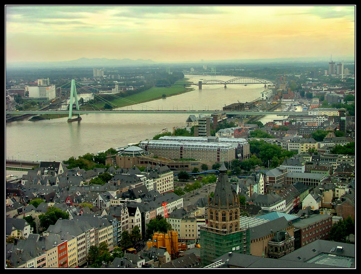 The view  from the cologne cathedral | Germany, autumn, river, Cologne