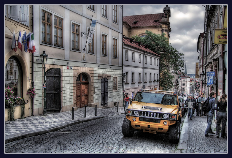 new chehi and old prague | medieval, pavestone, Prague, hdr