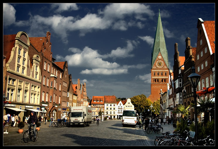 �������� | bicycle, people, city, Lueneburg, Germany