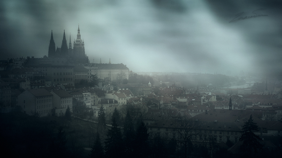 About Ivan Helsing | architecture, panorama, cathedral, medieval, rendering, Prague