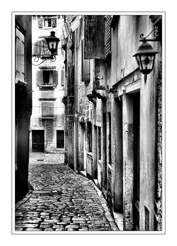 Spain in black and white	  | Spain, black and white	 , street, houses