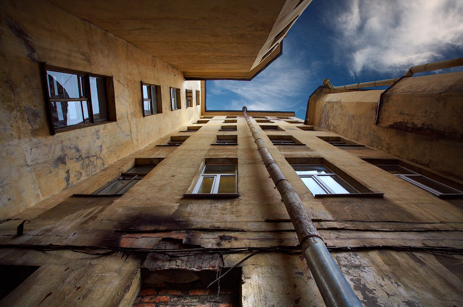 Piter | well, St. Petersburg, houses, sky, architecture