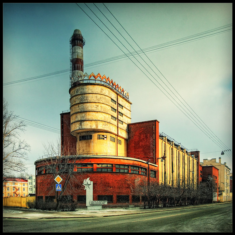Old factory | color, hdr, St. Petersburg, architecture