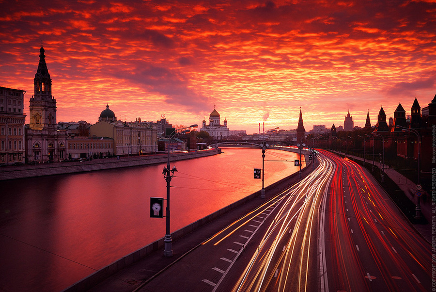 Moscow never sleeps | color, hdr, evening, river, Moscow