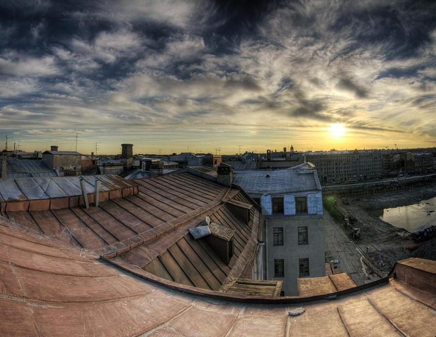 Sky on the roofs | roofs, hdr, St. Petersburg, sky