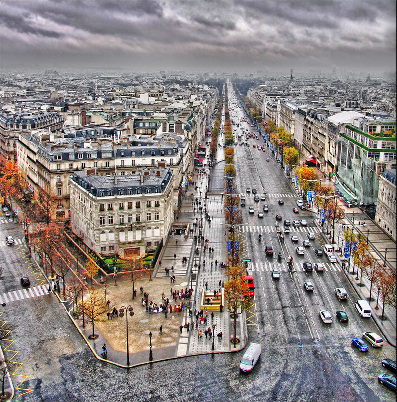 Top position | view from the top, color, megalopolis, hdr, Paris