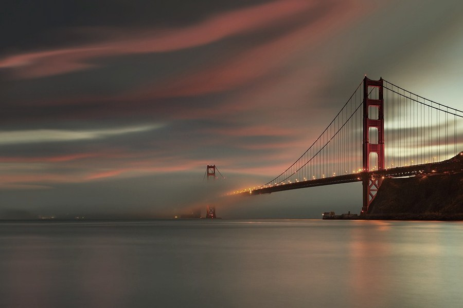 bridge to neverland | Golden Gate, San Francisco, sunset, panorama, bridge, sky