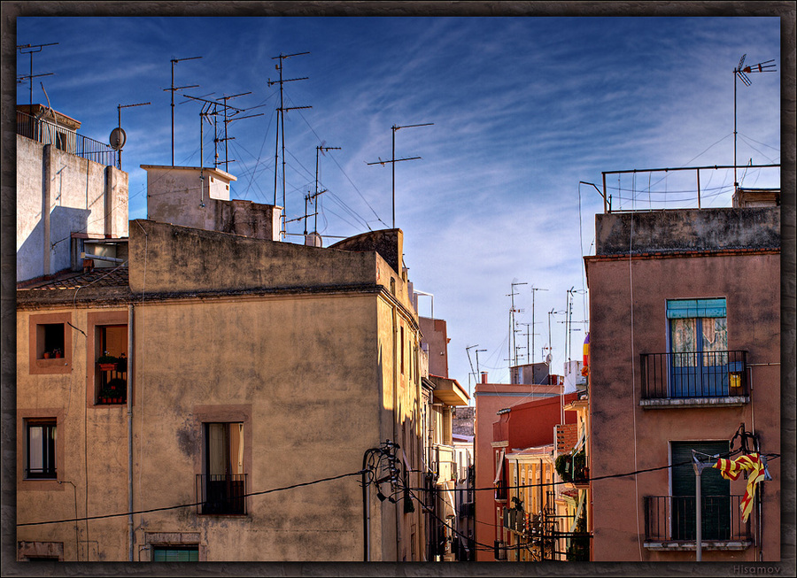 Antennae of the Tarragona town