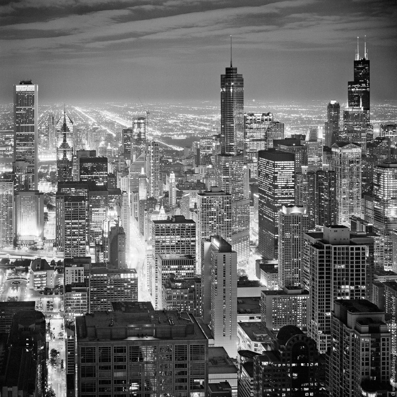 city lights black and white - photo #22