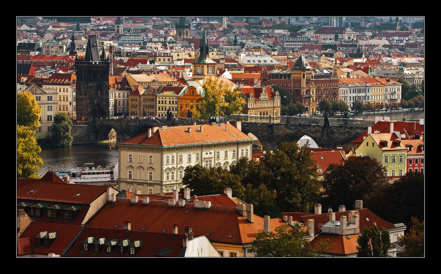 Karl's City | panorama, Prague, river