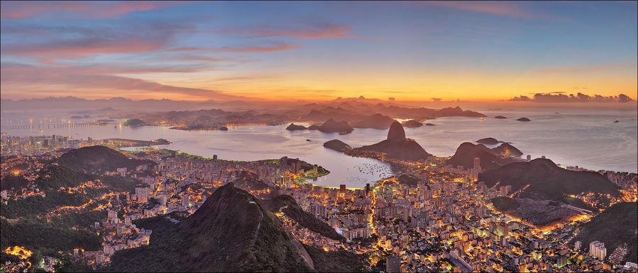 Rio de Janeiro. Sunrise from the Corcovado