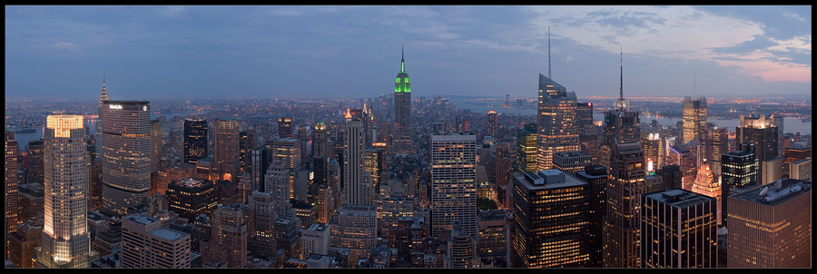 New York, New York... | megalopolis, night, New York, lights, panorama