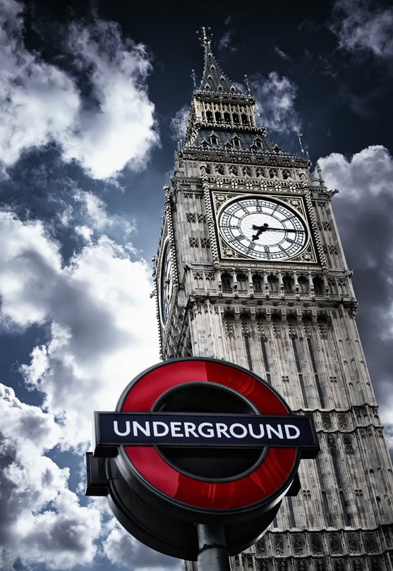 Underground | London, sky, desaturation