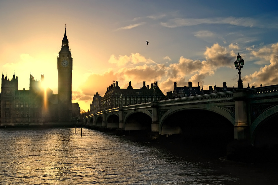 Big Ben. Sunset. | sunset, London, bridge, river