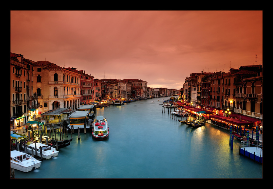 Sunset at Canal Grande