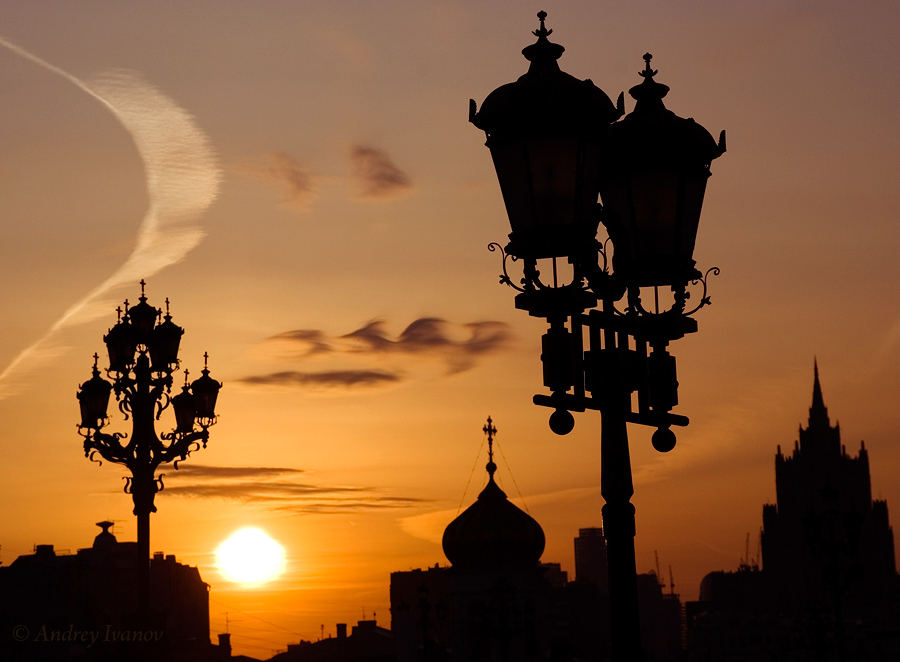 Moscow silhouettes
