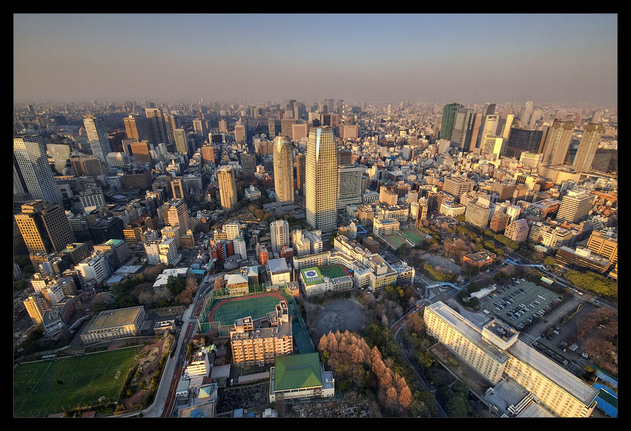 Tokyo: urban jungle | view from the top, megalopolis, skyscraper, panorama, Tokyo