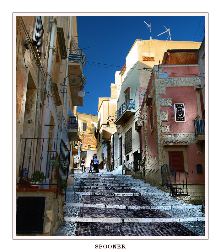 Sicilian streets | evening, Italy, street