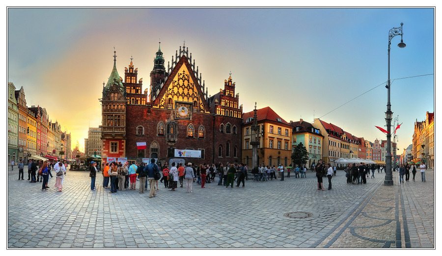 Wroclaw. Town hall at the market sqaure