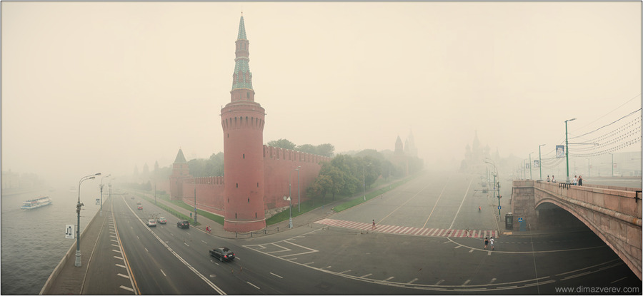 Moscow in smoke