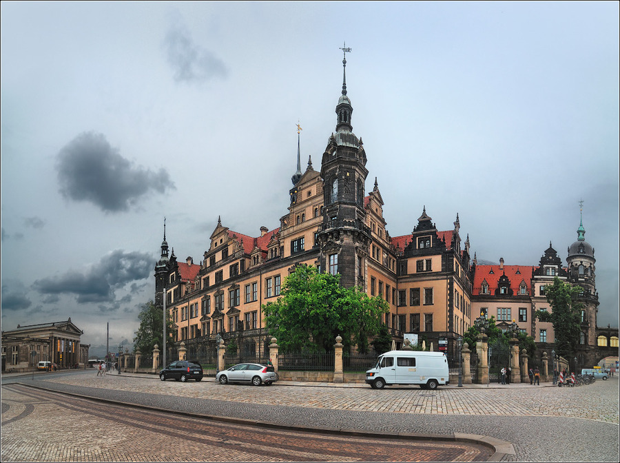 Dresden. View at the residence castle