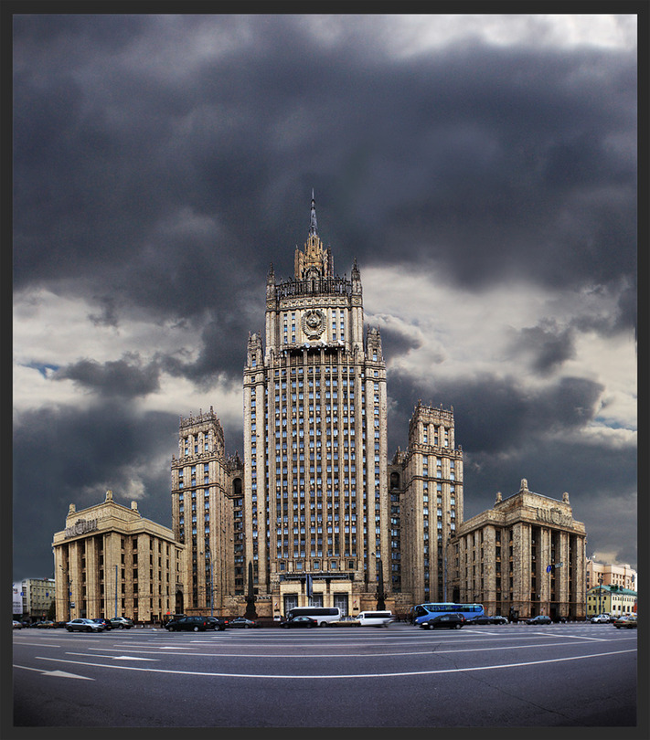 Ministry of international affairs | Moscow, desaturation, panorama