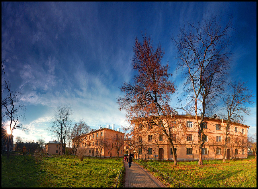 Palev housing estate | sky, panorama, St. Petersburg
