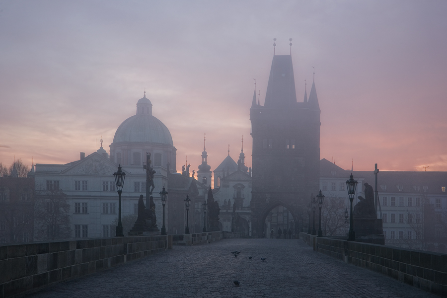 A foggy morning | Prague, cathedral, fog
