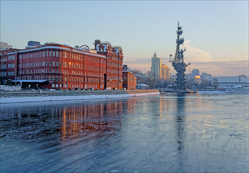 Ice on the Moscow river