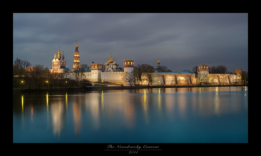 The Convent of the Maidens | Moscow, reflection, river, convent