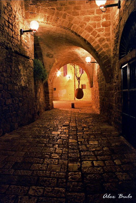 Jaffo at night | pavestone, Israel, night