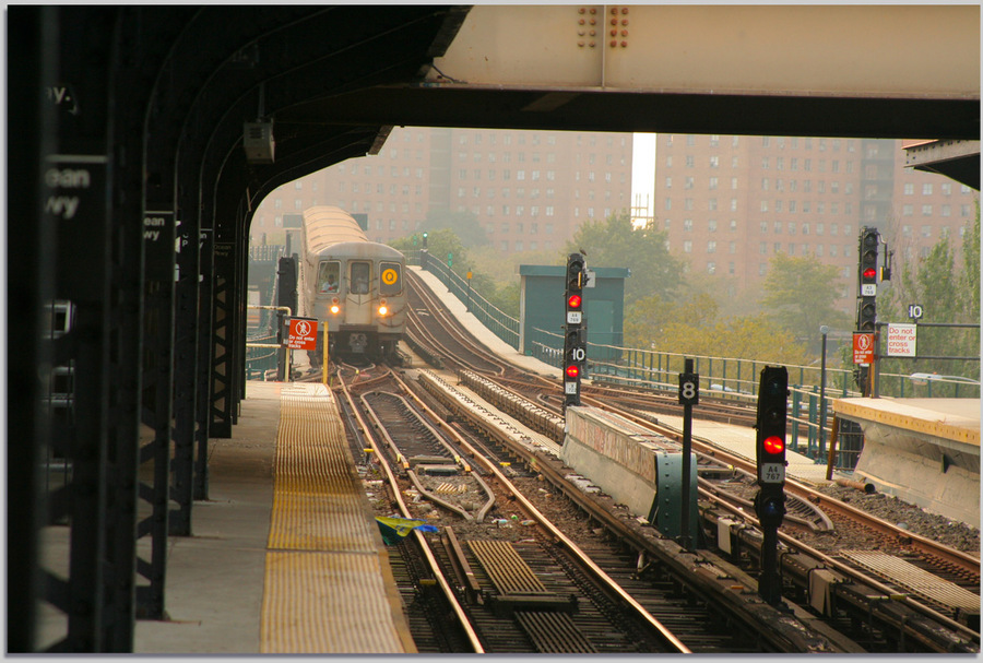 Railroad in New York | road, New York, morning, railroad