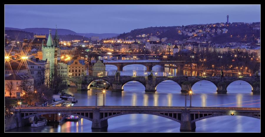 Four bridges at one photo