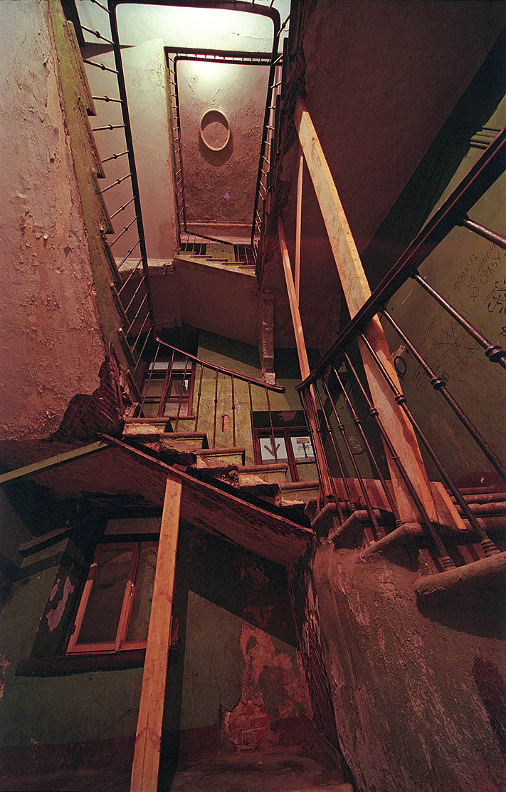 Inside the bell tower | bell tower, stairs, door