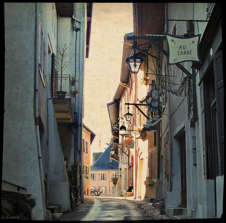 Narrow streets of France