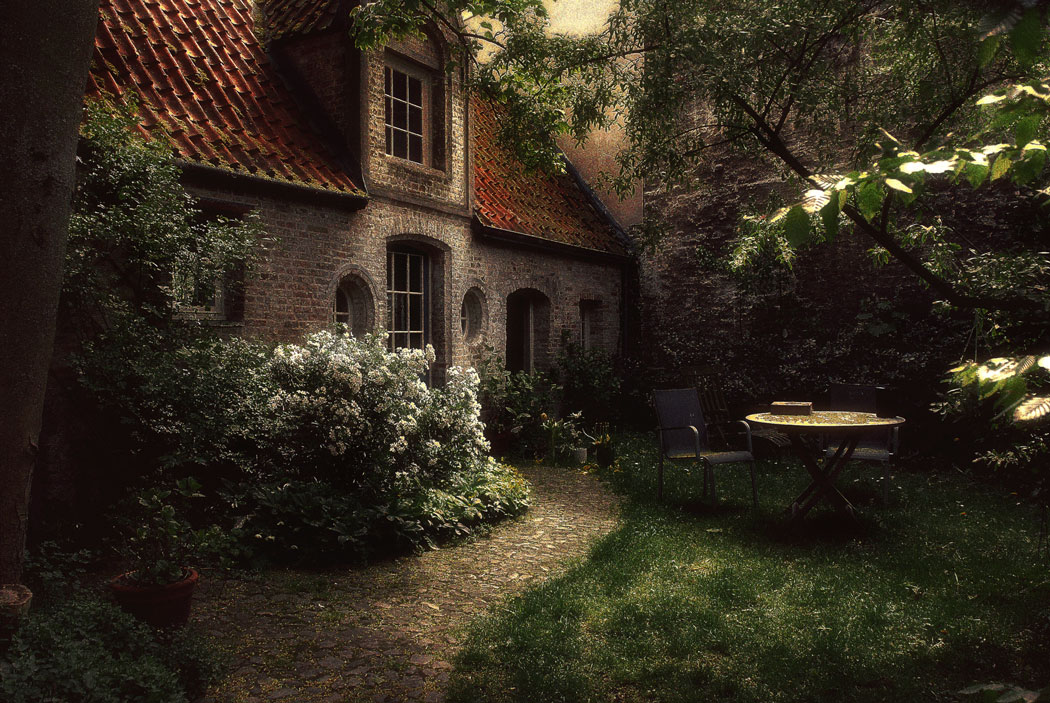 Patio in Bruges, Belgium
