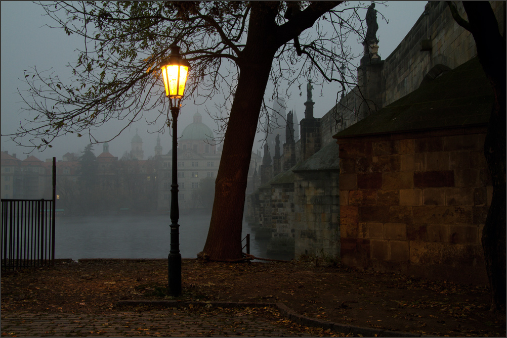 Near the Charles Bridge, early morning
