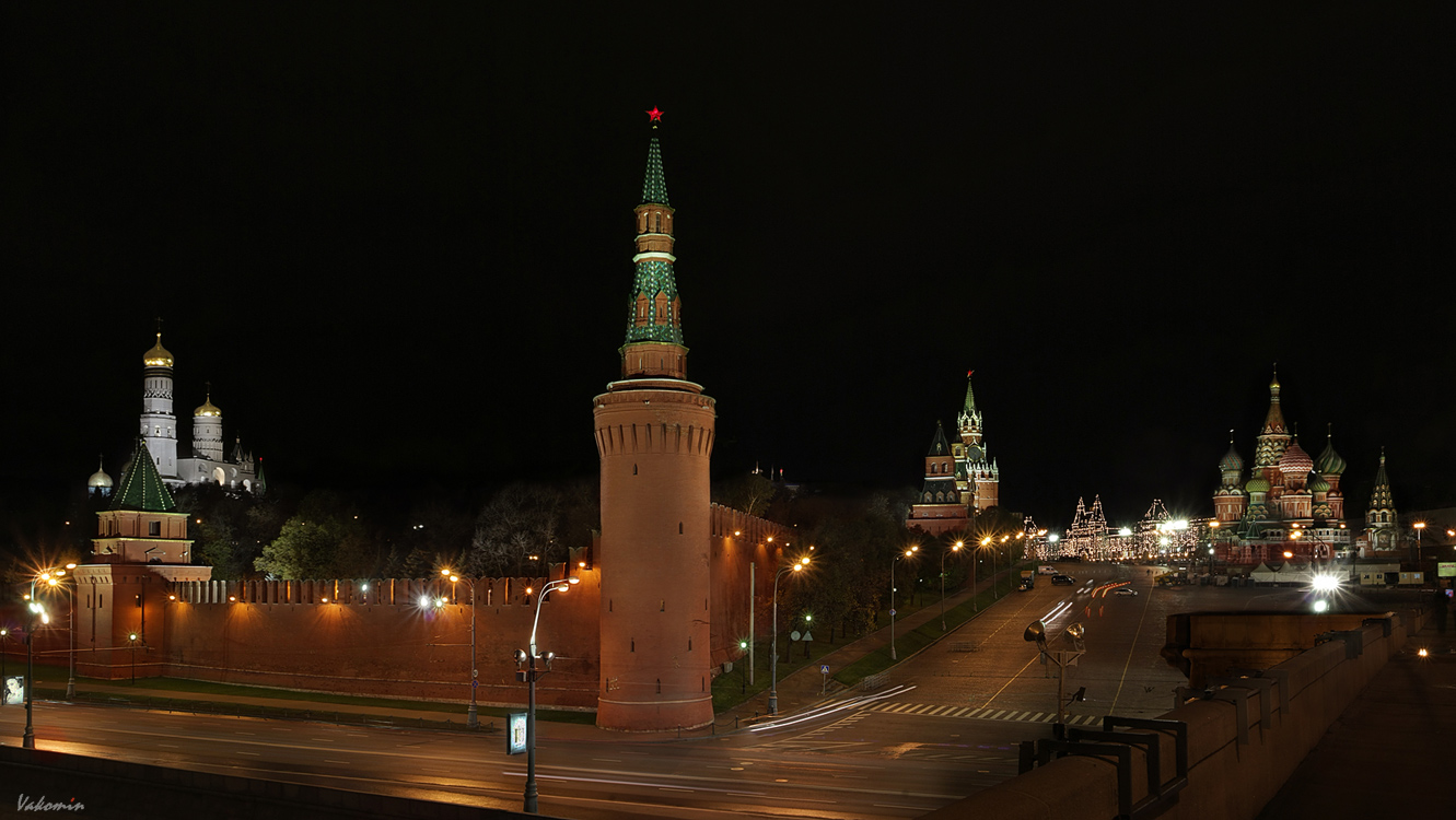 Moscow Kremlin's towers | tower, kremlin, crossroad, cathedral