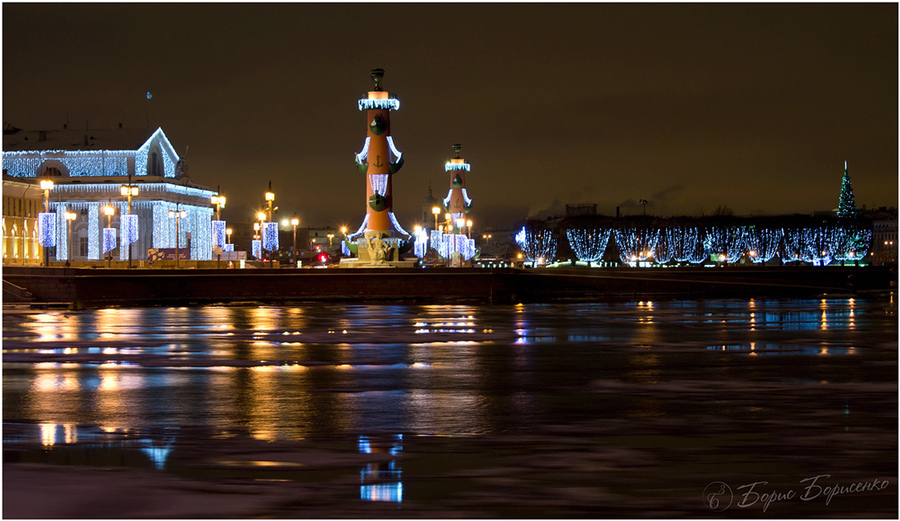 River and lights | river, lights, lighthouse, star
