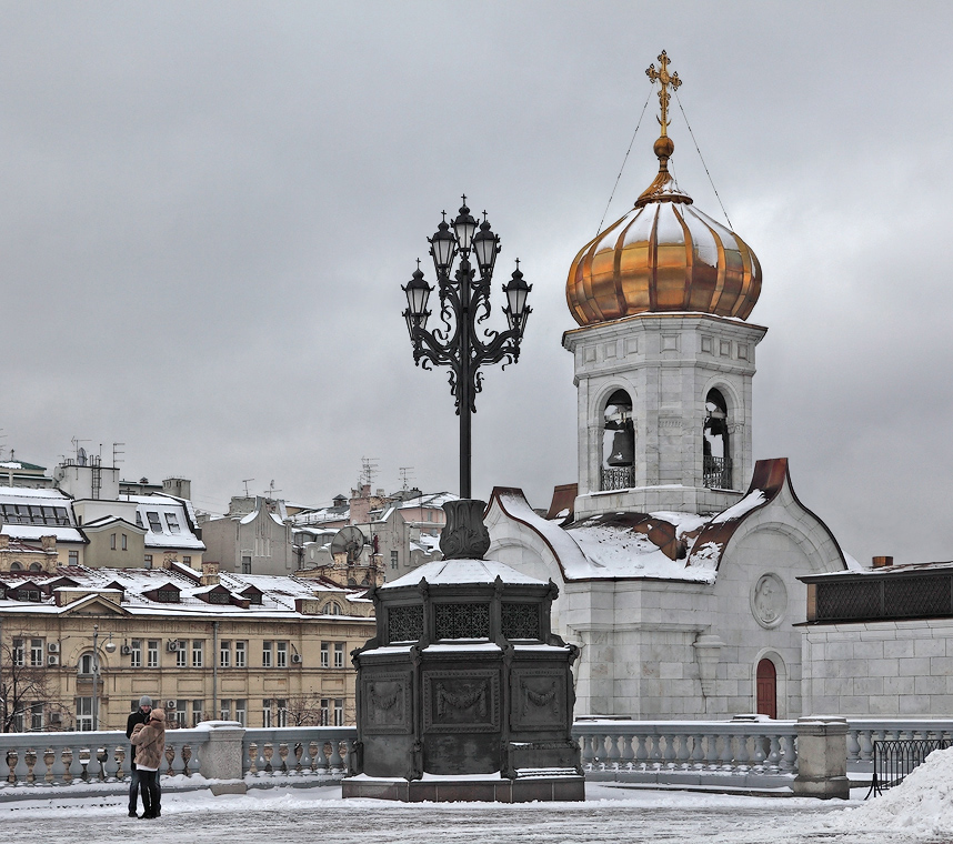 Winter view of a Russian church