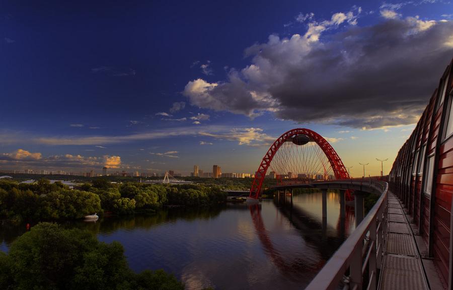 Bridge and arch