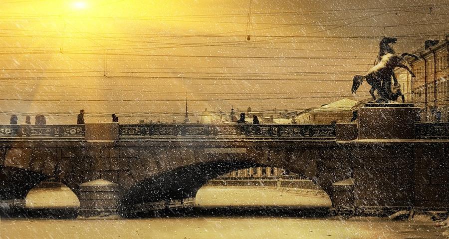 Sunbeams and the bridge