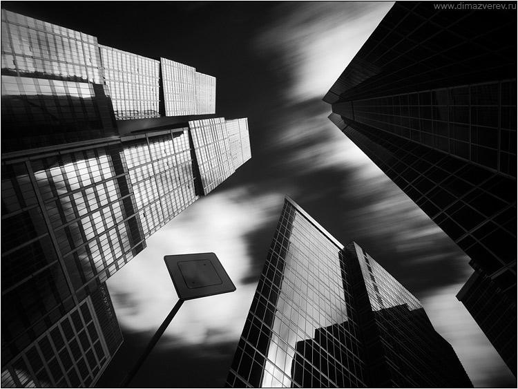 Between the skyscrapers