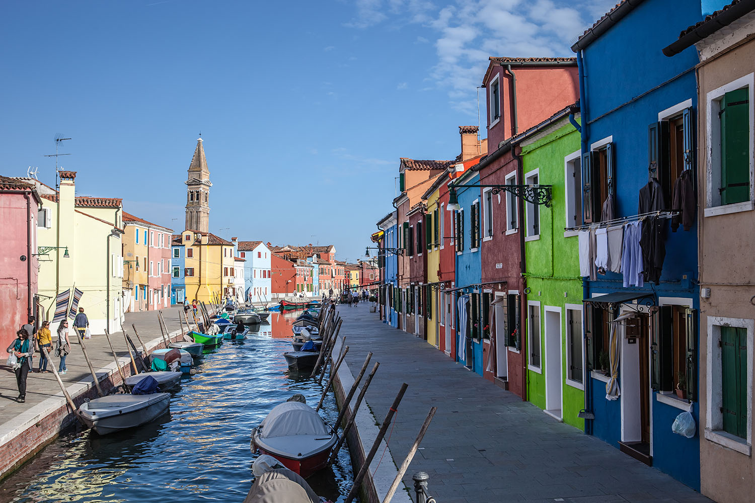 Colours of Burano | colorful houses, channel, river, quay