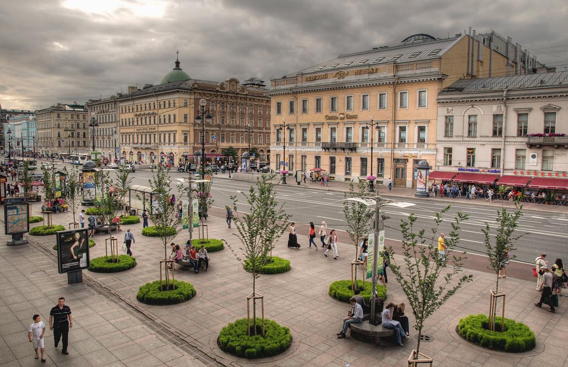 The Nevsky avenue