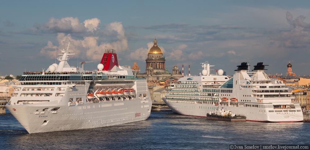Two huge ships