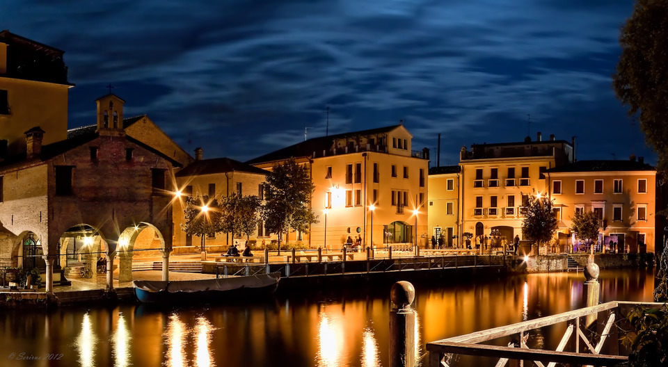 Evening quay, Portogruaro