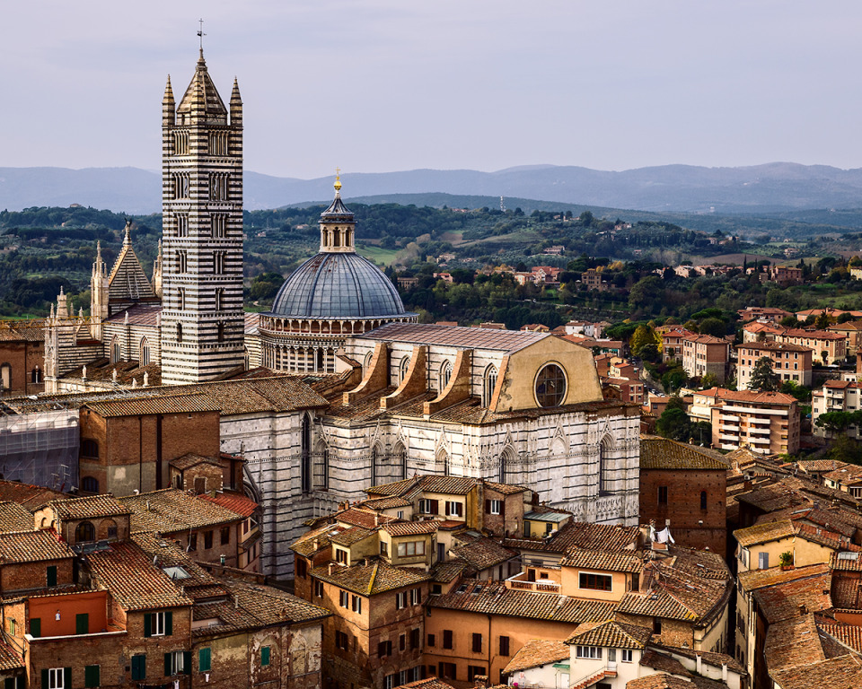 Siena, Italy | city, Siena, Italy, houses, building, sky, trees, roofs, windows, dome