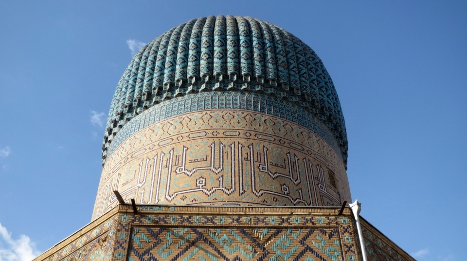 Bibi-Khanym Mosque, Samarkand | city, Uzbekistan, Samarkand, Bibi-Khanym Mosque, blue sky, mosque, sight, building , cupola, patterns